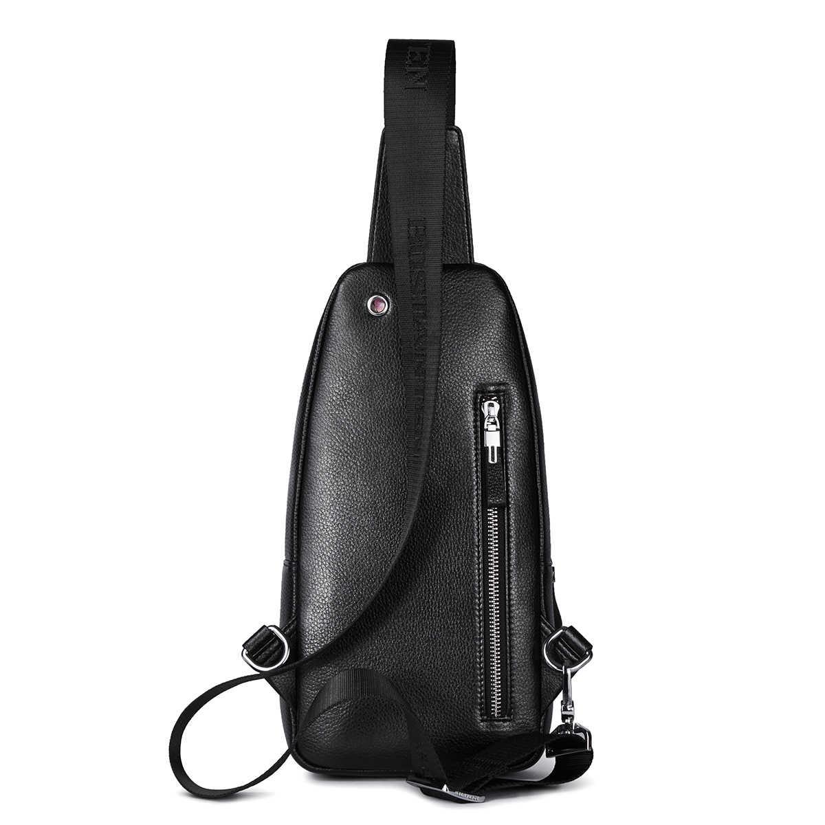Bostanten, новинка, ретро, натуральная кожа, Воловья кожа, Мужская нагрудная сумка, сумка через плечо, сумка-мессенджер, сумка на плечо, дорожная, двойная молния, сумки