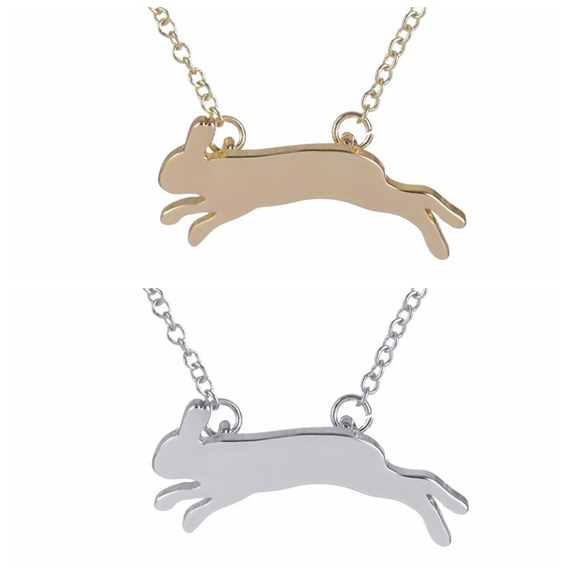 Yiustar New Fashion Unique Running Rabbit Necklace Pendant Jewelry Gift For Women And Girls Fashion Jewelry Accessories XL203