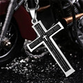 Cross Necklaces & Pendants Jesus stainless steel chain long chokers necklaces for women Collar woman necklace ras the neck joyas