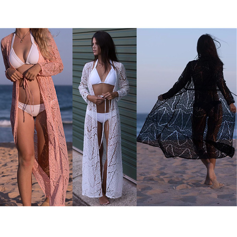 0d5719ccf5 Women Cover Up Beach Swimwear Ladies Tunic Bathing Suit Outlet Beach Pareo  Ups Embroidery Lace Hollow