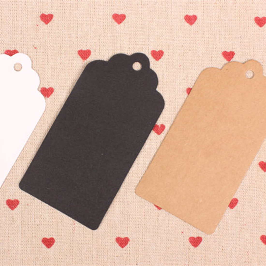 Hot Sell Blank Kraft Paper Gift Tags Wedding Scallop Favour Luggage 10Pcs/set