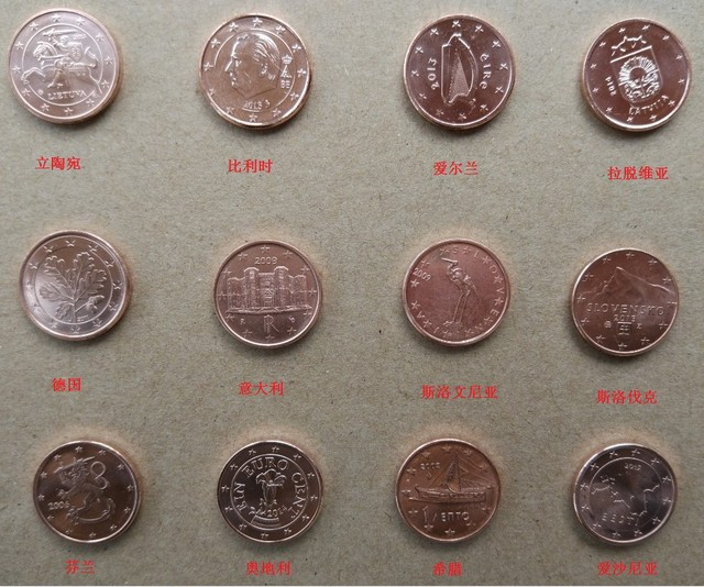 Set 12 Stücke Neue Euro 1 Cent Münze Welt Münzen Für Sammeln 100