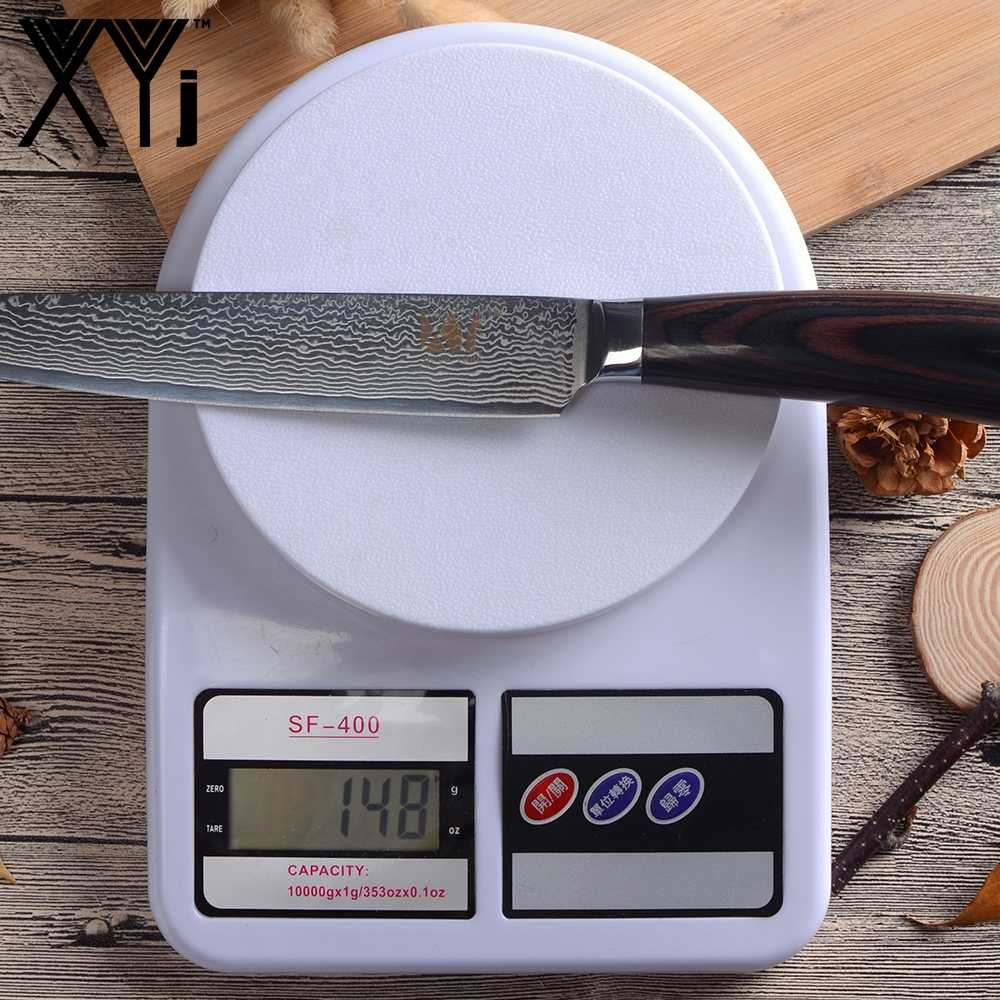 XYj Kitchen Knife 8 inch Japanese Damascus Steel Slicing Knife VG10 Color Wood Handle Meat Kitchen Cooking Tool New Arrival 2018
