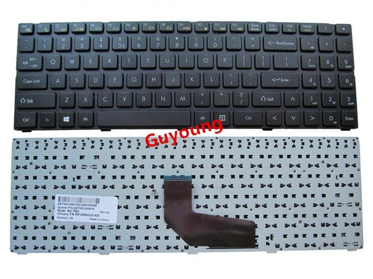 Laptop US English Keyboard For DNS TWC K580S I5 I7 D0 D1 D2 D3 K580N K580C K620C AETWC700010 MP-09R63SU-920 Black With Frame