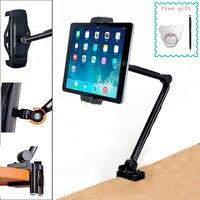 Tablet Stand for Apple IPad Desk Clamp 360 Rotation Adjustable Bracket Desktop Holder Folding Arm Lazy Bed Mount for IPhone