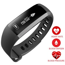 Smart Wrist Band Heartrate Blood Pressure Oxygen Oximeter Sport Bracelet Watch intelligent For IOS Android pk