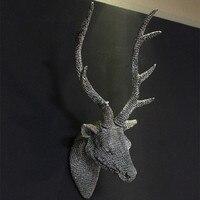 Бесплатная доставка картина олень из полимера настенная вешалка украшение стены головой животного полимерный настенные украшения, аксесс