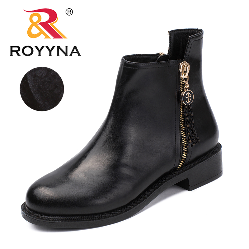 ROYYNA New Fashion Style Women Boots Zipper Women Winter Shoes Round Toe Lady Ankle Boots Comfortable Light Fast Free Shipping