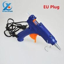 20 Вт электрический пистолет с 2 палочками клея, пистолет для термоклея, DIY Инструмент для ремонта, сертифицированный продукт