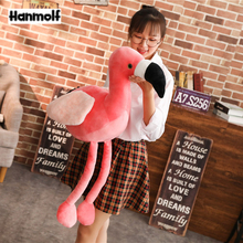 Pink Flamingo Animals Stuffed Doll Plush Flamingo Toy Lifelike Decorative Flamingo Plushie Toy Kids Animals Gift 60/90cm