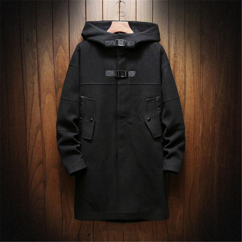 Dei Da Uomo Cappotto khaki Inverno Stile Lungo Black Del Casual Uomini  Nuovi Cappuccio 2019 Trincea Moda Con Di Degli Giacche ... be1ee57b7b7