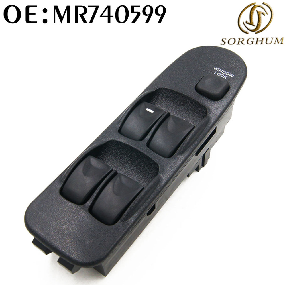 NEW MR740599 For MITSUBISHI WINDOW SWITCH Front left right Power Master Window Switches for MITSUBISHI Carisma DA_ 1995-2006 for hyundai elantra front left driver side master power window switch 2001 02 03 04 05 2006 93570 2d000