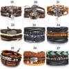 IF ME Vintage Leaf Feather Multilayer Leather Bracelet Men Fashion Braided Handmade Star Rope Wrap Bracelets & Bangles Male Gift 10