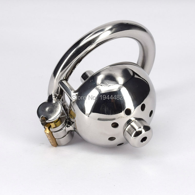 Buy Chastity Device Stainless Steel Male Small Cock Cage Metal Fetish Product  Urethral Stretcher Dilator Sex Toys Men