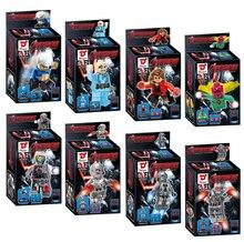 8pcs/lot,  The Avengers Alliance D Card Boys Assemble Action Figures Educational Building Block Toy Kids Children + Box