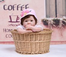 49cm cloth Body Silicone Reborn Baby Doll Toys Lifelike Baby-Reborn Princess Doll and plush toy Child Birthday Christmas Gift цена и фото