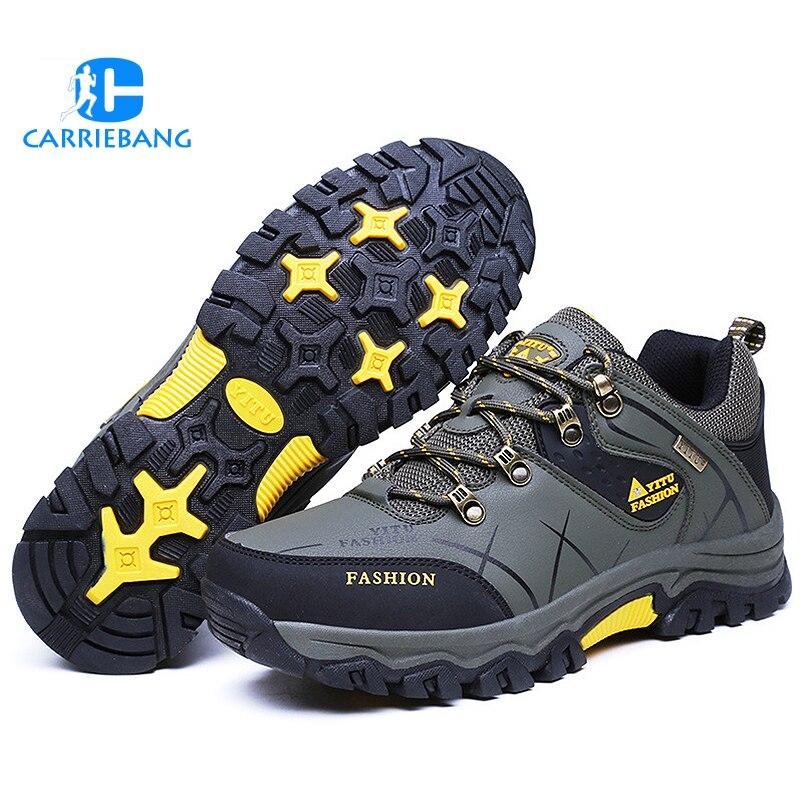 Automne et hiver chaussures de randonnée basses chaussures pour hommes chaussures de sport de plein air mode Camping randonnée baskets hommes chaussures de randonnée de montagne