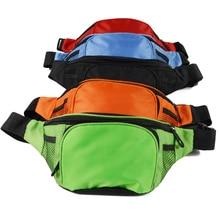 15PCS / LOT Waist Pack women Running Waterproof Bag Wallet Mobile Phone Holder Men Zipper Travel Pouch Belt Chest