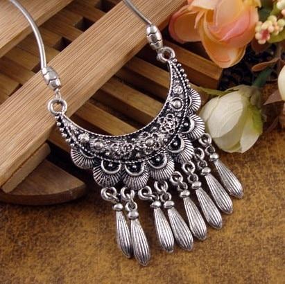 New Fashion Classic Drop Tibet Nepal National Jewelry Wholesale Women Cangshi Necklace Moon Free Shipping