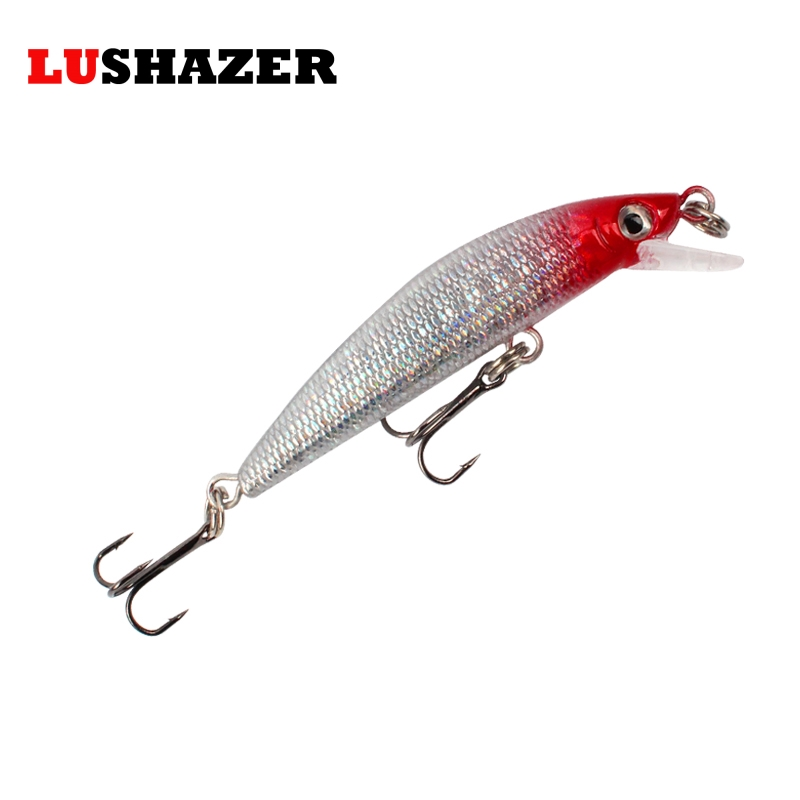 LUSHAZER Minnow fishing bait 57mm 4g carp fishing wobbler swimbait hard fishing lures China isca artificial baits fishing tackle trulinoya minnow fishing lures 80mm 8g hard bait carp fishing bass lure swimbait sea fishing isca artificial fly fishing tackle