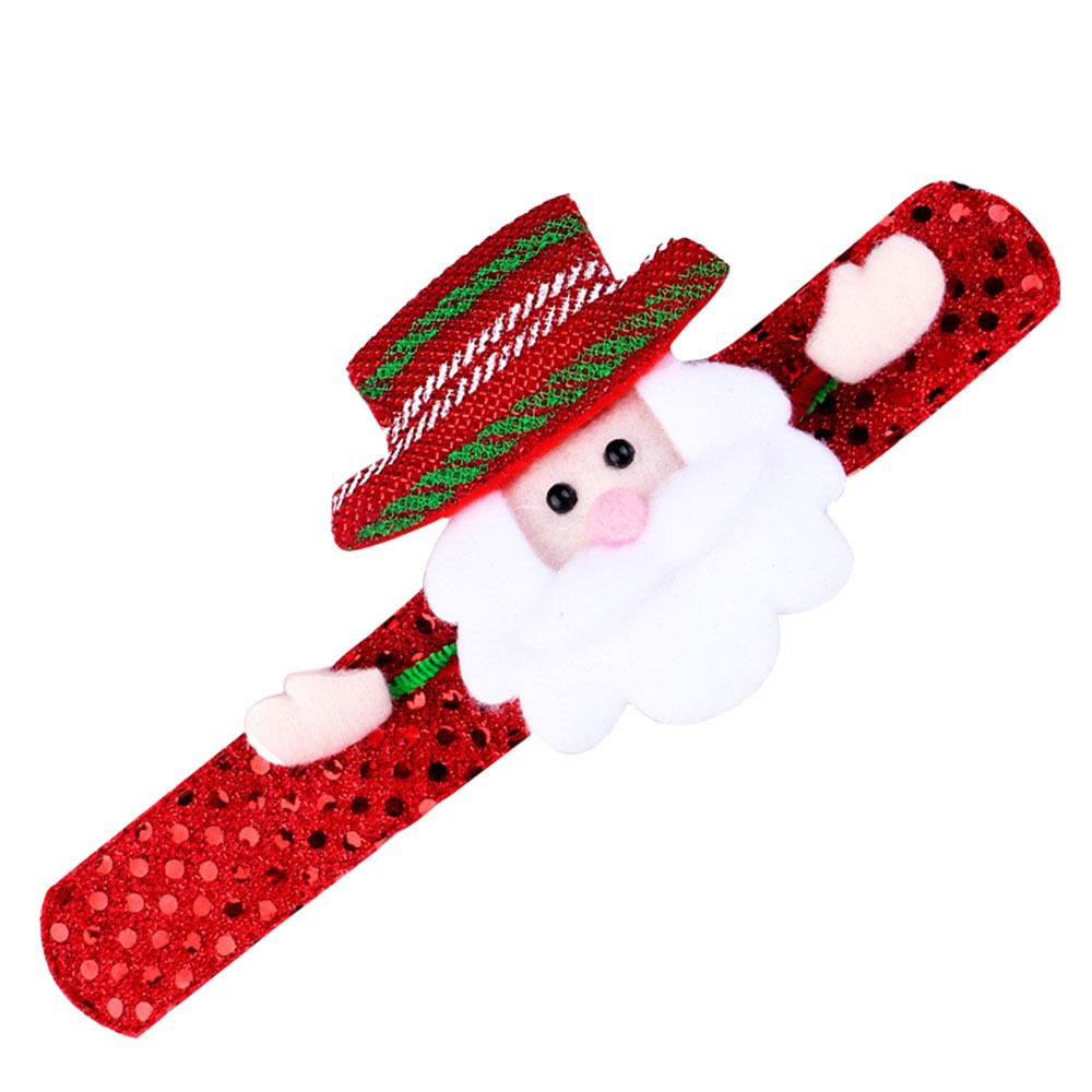 Luminous Snowman Bear Elk Slap Bracelet Wrist Band With Light Red Christmas Gifts In Up Toys From Hobbies On Alibaba Group