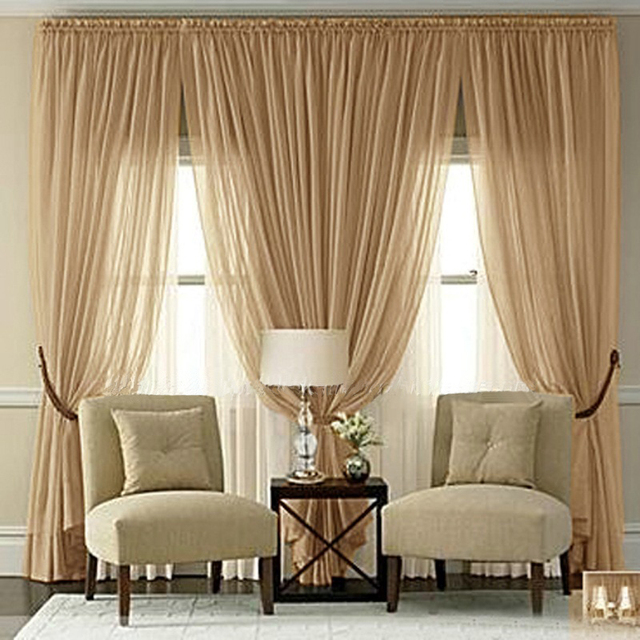Buy 2016 Classic Sheer Curtains For Living Room The Bedroom Tulle Curtains For