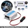 Vehemo 200W Car Power Inverter USB Converter DC 12V To AC 220V w/Adapter Plug Compact