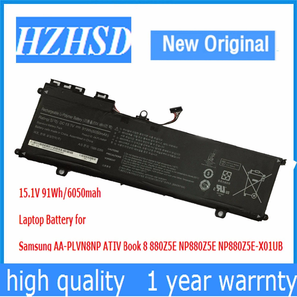 15.1V 91Wh New Original AA-PLVN8NP Laptop Battery for Samsung ATIV Book 8 880Z5E NP880Z5E NP880Z5E-X01UB15.1V 91Wh New Original AA-PLVN8NP Laptop Battery for Samsung ATIV Book 8 880Z5E NP880Z5E NP880Z5E-X01UB