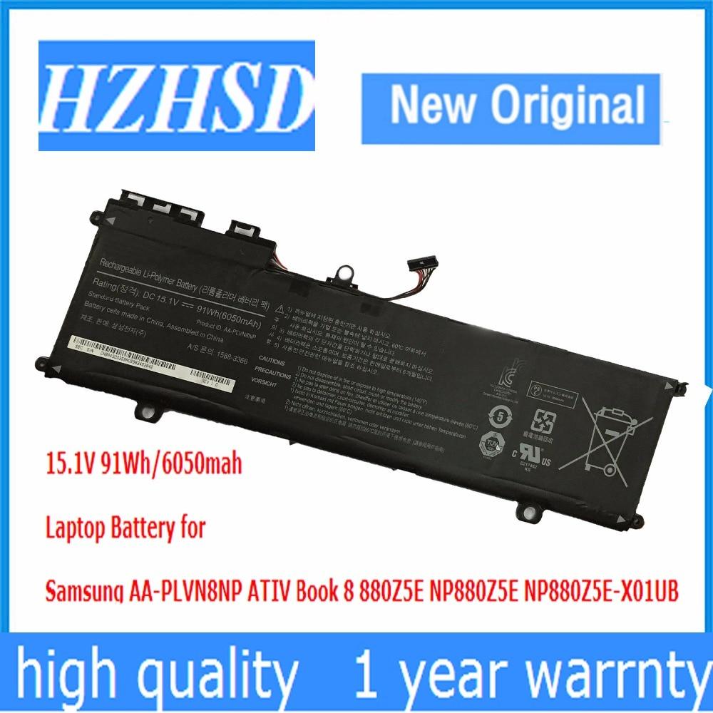 15.1V 91Wh New Original AA-PLVN8NP Laptop Battery For Samsung ATIV Book 8 880Z5E NP880Z5E NP880Z5E-X01UB