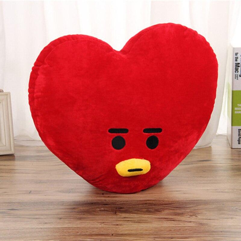 BTS Cute Pillow Kop home Bangtan boys Cute Cartoon BTS BT21 Plush Doll Toy Bangtan Boys Throw Pillow Cushion Boys Throw Pillow