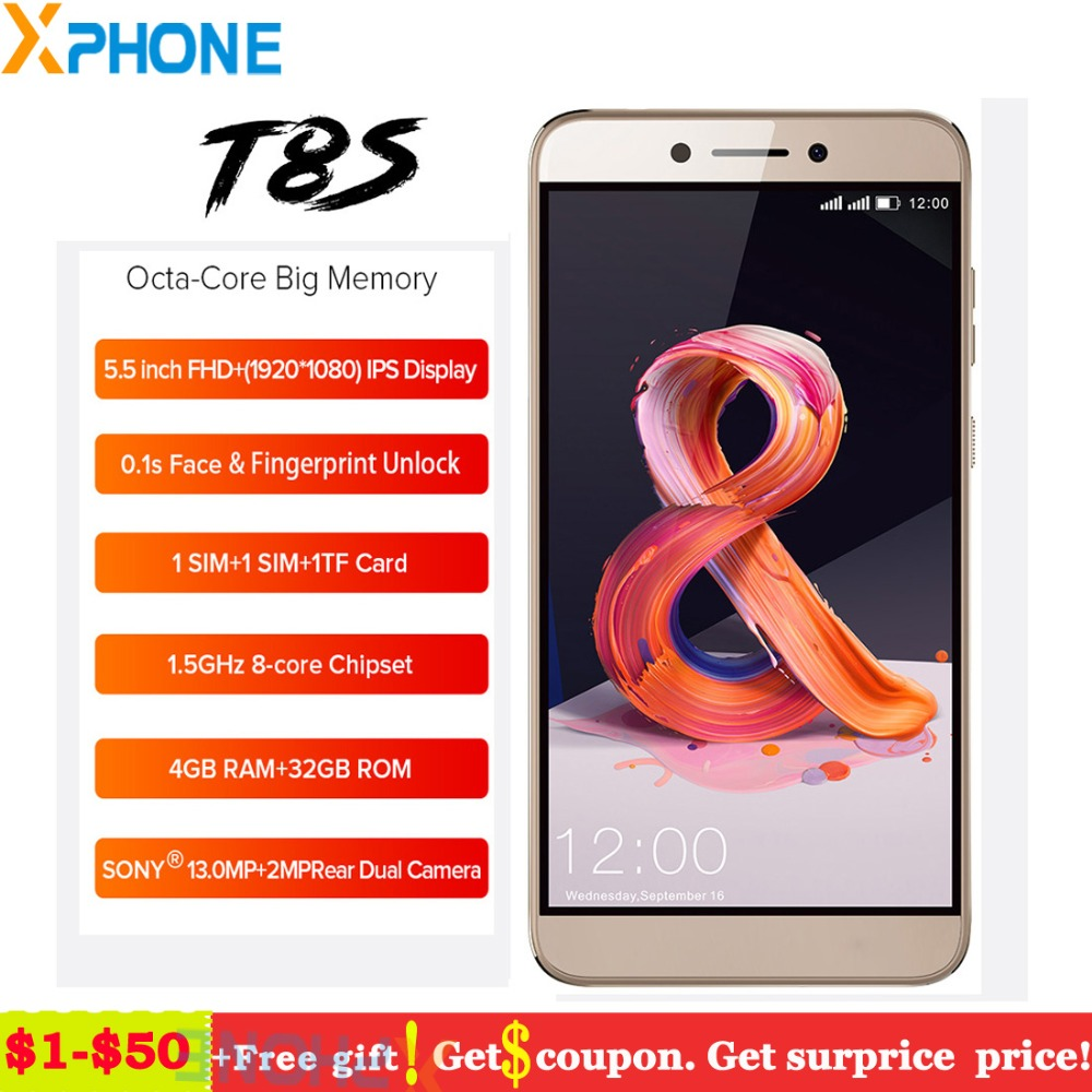 Leagoo T8S 4GB 32GB Android 8.1 5.5'' FHD 13MP Octa Core Smartphone Face Unlock Fingerprint ID 3080mAh 4G Dual SIM Cell Phone-in Cellphones from Cellphones & Telecommunications    1