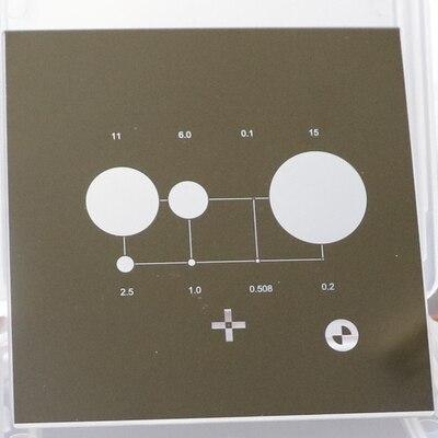 Оптическая коррекция пленка Imager Калибровочный блок проектор инструмент калибровки двухмерный микроскоп стекло коррекция пленка