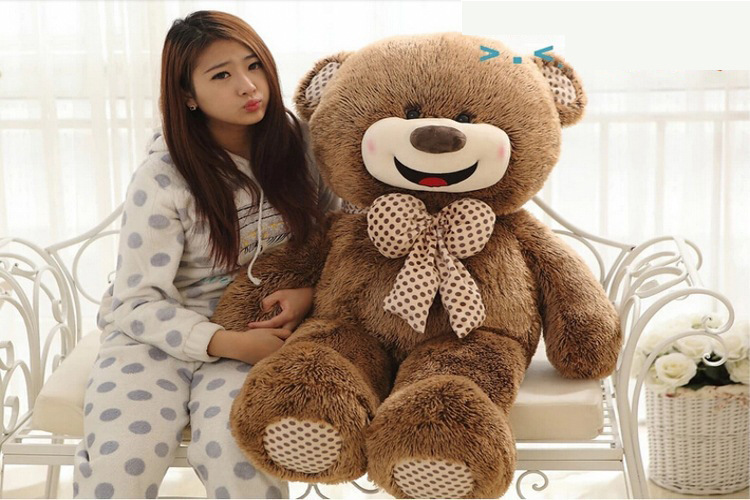 cute 200cm bear skins Stuffed toys for girls valentines day gift for girlfriend 78inch unfilled Plush Toy dolls lifelike animals