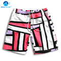 GL Brand summer quick-drying men beach shorts swimwear casual shorts trunks plus size men's geometric board shorts