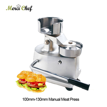 100mm-130mm Manual Hamburger Press Burger Forming Machine Round Meat shaping Aluminum Machine Forming Burger Patty 5 set 2000pcs 130mm hamburger press machine oil absorbing paper fit for am13 burger patty maker machine kitchen snack tool