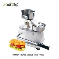 100mm 130mm Manual Hamburger Press Burger Forming Machine Round Meat shaping Aluminum Machine Forming Burger Patty