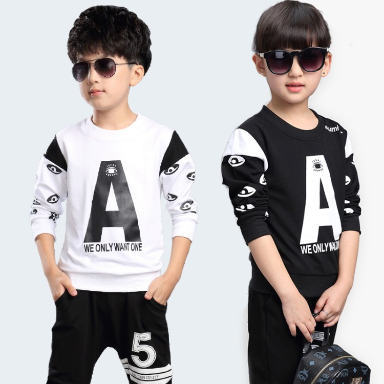 2018 Childrens Set Clothes Kids Sports Suit Girl Tracksuits Costume Baby Girl Clothing Sets 10 15 Years Boys Clothing Toddler