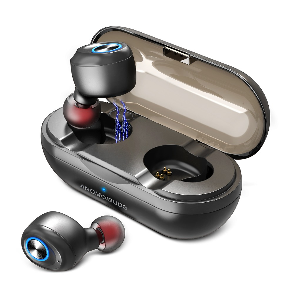 Anomoibuds Capsule Wireless Tws Bluetooth Earphone TWS Bluetooth Headphone Noise Cancelling Bluetooth 5.0 Stereo Call Earphone rock muca bluetooth earphone