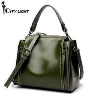 Vintagel handbag genuine leather bags for women shoulder messenger bags double zipper high quality ladies small crossbody bags