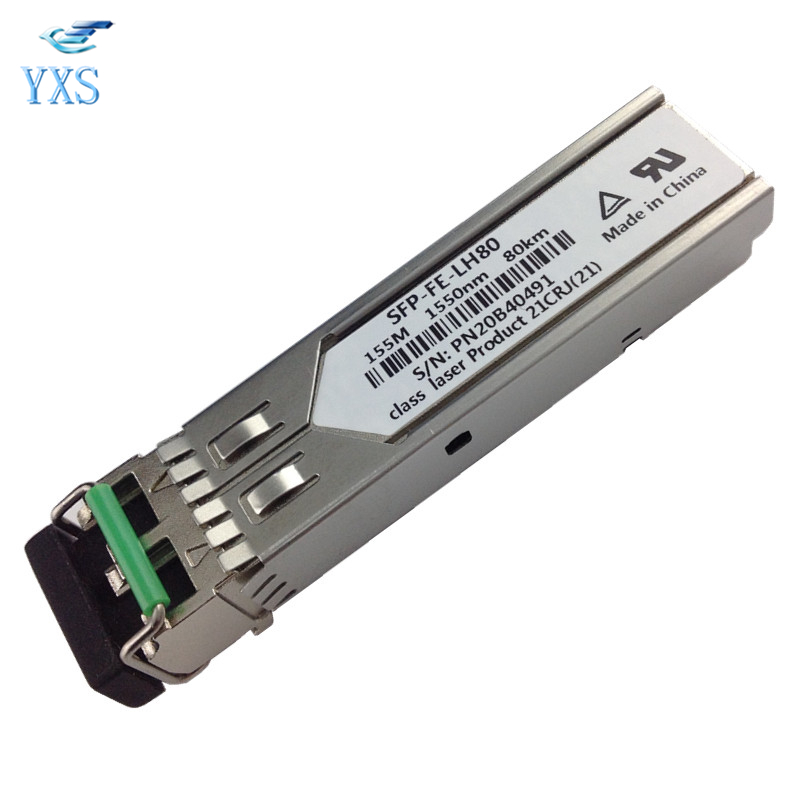 Compatible S-SFP-FE-LH80-SM1550 eSFP Fast Optical Module 1550nm 80KM SFP-FE-LH80 new new packard j9100b c j9099b c sfp 15km fast single fiber bidirectional optical module bidi