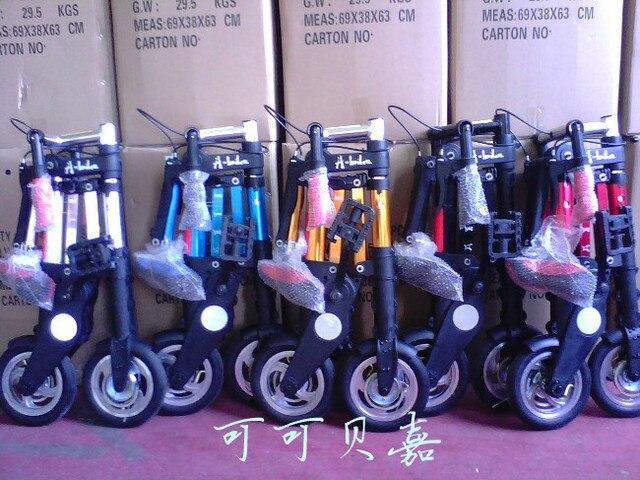2013 Горячая продажа 8 ''8 дюймов Abike складной велосипед мини ультра-легкий маленький велосипед черный/ серебристый/красный/Orange/синий