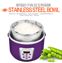 Multifunction electric Rice Cooker smart Appointment 3 Layers mini stainless steel heating cook lunch box Container Steamer 220V