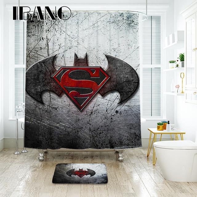 IBANO Batman Logo Tenda Della Doccia Impermeabile Tessuto In Poliestere Bagno Te