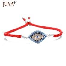 2018 NEW High Quality AAA Zircon Rhinestone Lucky Turkish Evil Eye Bracelet For Men Women Couple bijoux bracelet femme
