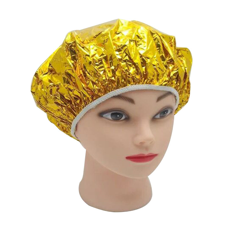 3pcs Gold Portable Shower Stretchable Elastic Shower Hair Nets Wig Disposable One-Off Hotel Bathing Cap Salon Bathroom Products
