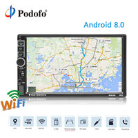 Podofo 7'' 2 Din Car Radio Multimedia Player Android GPS Navigation MP5 Audio Stereo Autoradio Mirror Link Car Backup Monitor