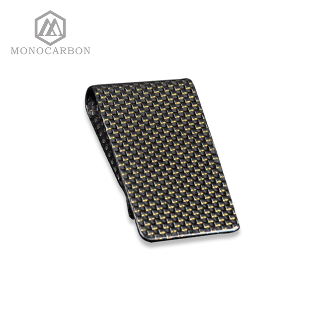 Carbon Fiber Money Clip – Gold