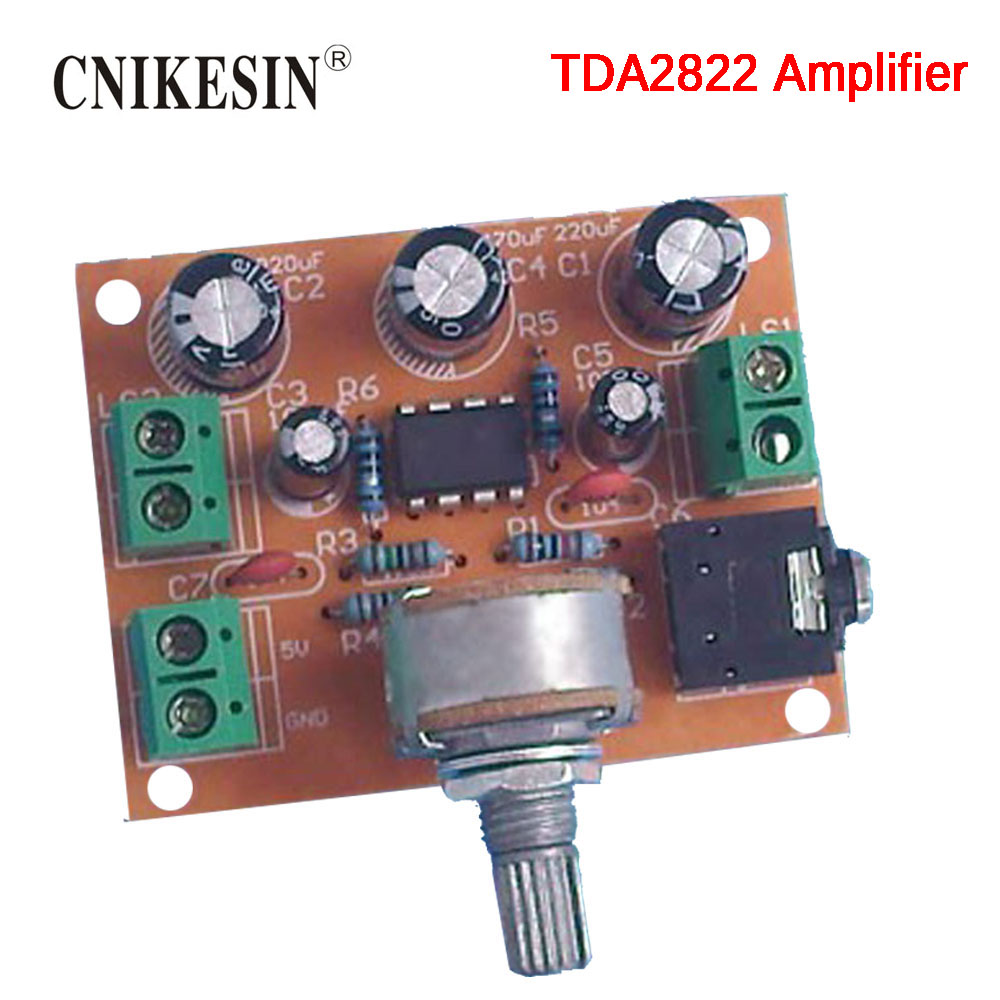 CNIKESIN Diy kit TDA2822 dual track Power amplifier board kit Electronic production suite
