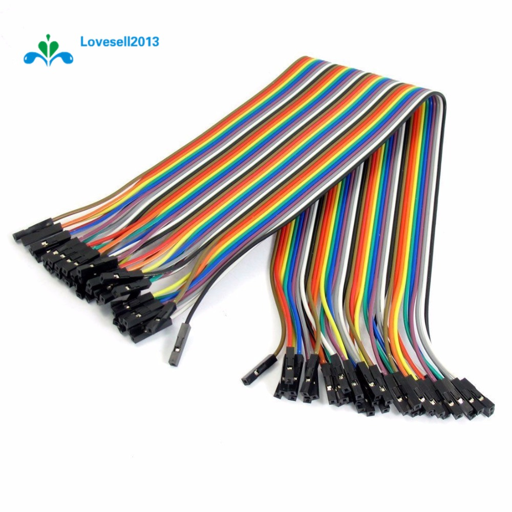 5 x 40pcs Dupont Wire Color Jumper Cable 2.54mm 1P-1P Female-Female For Arduino