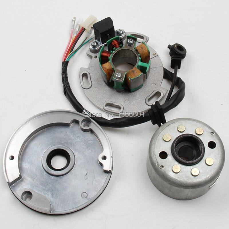 LF Lifan 150cc 8-coil Stator et Magneto Logement pour Moteur Horizontal, Racing Stator Rotor pour Dirt pit Bike singe 140 150cc